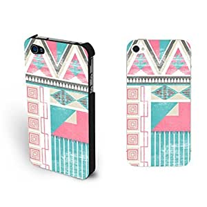Geometric Pattern Triangle Design Iphone 4 Case Cover New Vogue Aztec Arrows Hard Placstic Iphone 4s Cse Skin Shell for Girls