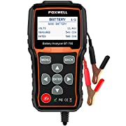 #LightningDeal Battery Tester FOXWELL BT705 Automotive 100-2000 CCA Battery Load Tester, 12V 24V Car Cranking and Charging System Test Scan Tool Digital Battery Analyzer for Cars and Heavy Duty Trucks