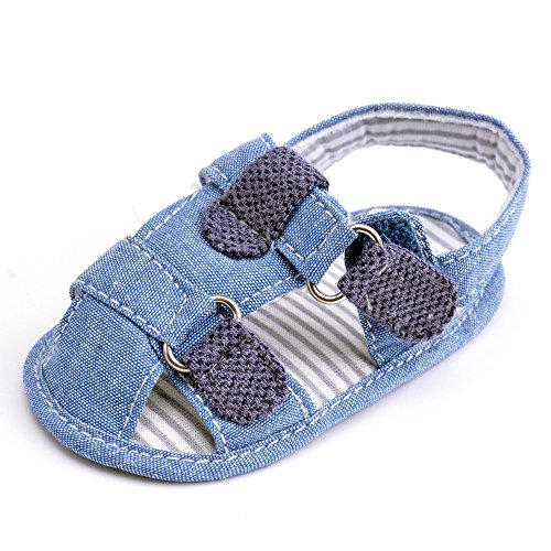 Estamico - Sandalias para bebé azul azul Talla:3-6 meses