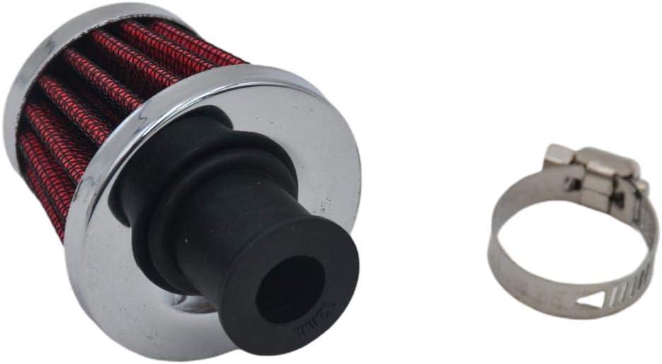kesoto 2 Piezas De Aceite De Motor De Autom/óvil 12mm Ventilaci/ón De Filtro De Entrada De Aire Calidad Durable