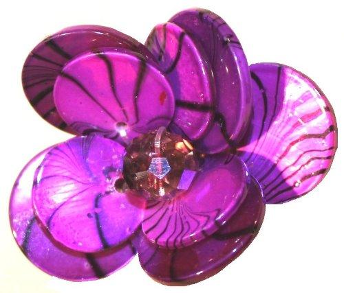 (Flower Shell Ring-Purple)