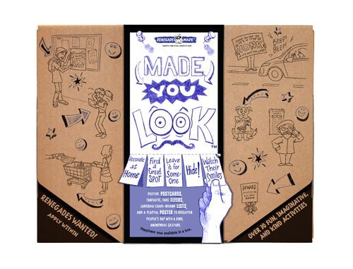 Made You Look craft and activity kit by Renegade Made- decorate postcards, poster, flyers and lists for your kids to leave around town and brighten people's - Summer List Activities
