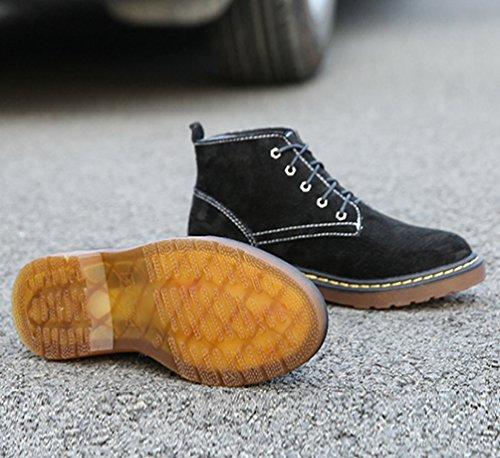 Stivali Velluto Stringati Neve Stivaletti Snow Caldo Boots Nero Inverno Anguang Donna piã¹ Martin fSqxw7wt