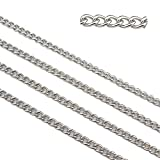 66.6ft Stainless Steel Twisted Cross Curb Chains Findings Fit for Jewelry Making &DIY (SC-1010-A)