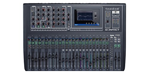 8 Recording Bus Console (Soundcraft Si Impact 40-Channel Digital Mixer Console with Remote iPad Control)