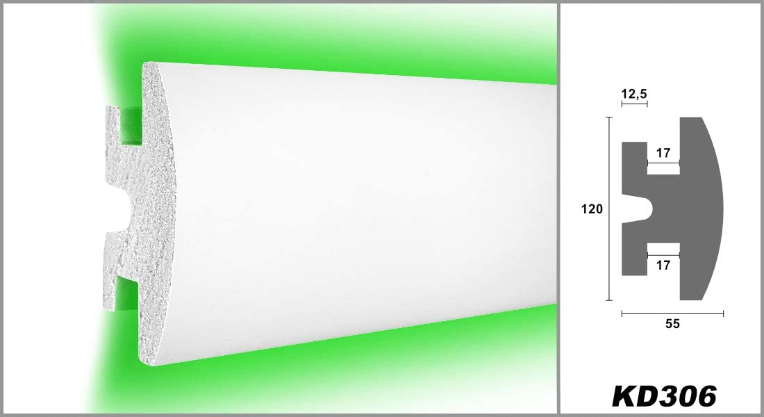 kd306 1,15/m LED tira de estuco para Iluminaci/ón indirecta XPS 120/x 55