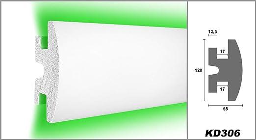 1,15 M/ètres LED Moulure en Stuc pour Eclairage Indirect XPS 120x55mm KD306