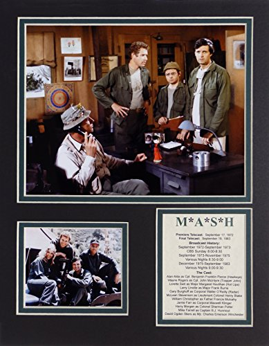 "Legends Never Die ""MASH"" Framed Photo Collage, 11 x 14-Inch"