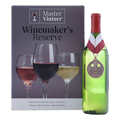 Pinot Grigio Kit - Master Vintner Winemaker's Reserve Wine Making Recipe Kits - Ingredients for making 6 gallons of Homemade Wine
