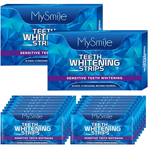 MySmile Teeth Whitening Strips, White Strips for Teeth Whitening Kit, Non-Sensitive Teeth Whitener for Tooth Whitening, Helps to Remove Smoking Coffee Soda Wine Stain, Up to 10 Shades Whiter