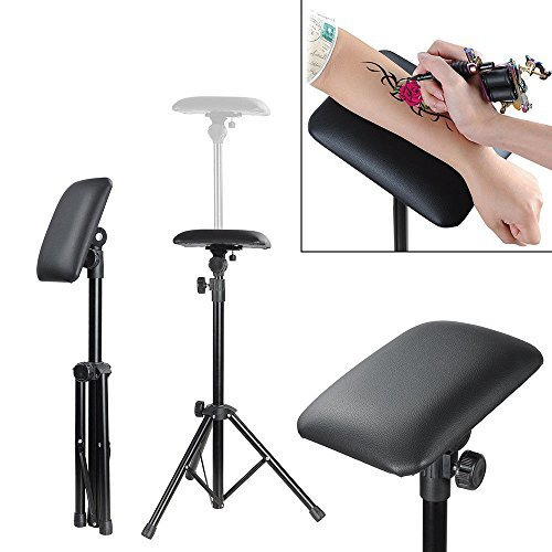 Tattoo Tripod Stand Arm Leg Rest Studio Chair Sponge Pad Tattoo Armrest with Bracket Height Adjustable 65-115cm (Tattoo Tripod Stand)
