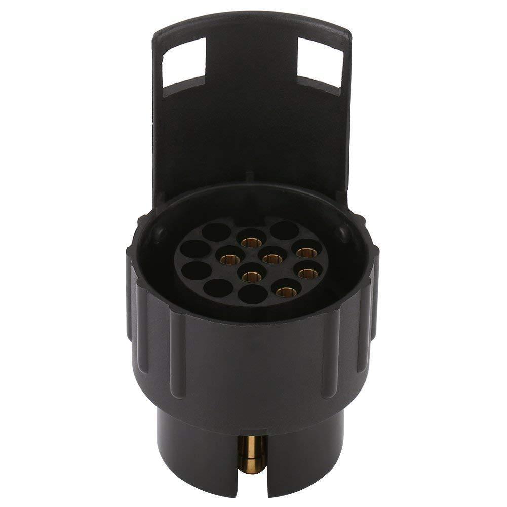 EKADA Trailer Socket Adapter Plug Converter Connector for Caravan Towbar Towing 12V 7 Pin to 13 Pin