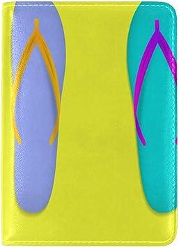Zapatillas con Estuche para Pasaporte en la Playa en casa Arte; Propósito Imprimir Cartera de Viaje para Titular de Pasaporte: Amazon.es: Equipaje