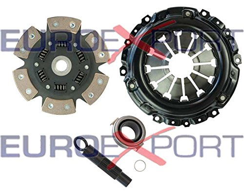 (Competition Clutch Disc and Pressure Plate Kit for Honda Acura K20 K24 RSX Ceramic 6 Puck Sprung Stage 4)