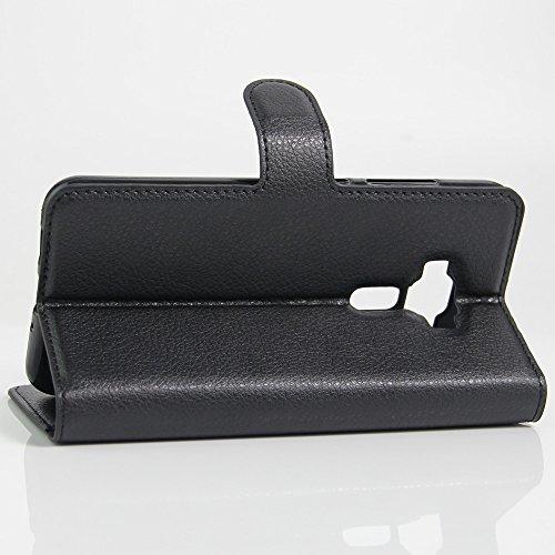 Asus Zenfone 3 DELUXE ZS570KL(5.7) Cover - Custodia di Cuoio, Slot per Scheda e Protettiva Flip Integrati Portafoglio con Magnetico Snap Case + 1 × Nero Stilo Penna