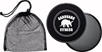 Gliding Discs - Core Sliders for Strength and Stability - Abdominal and Glutes Exercise Slides for Home and Gym Work Out - Works on Carpet and Hardwood Floors by AARDVARK - Black