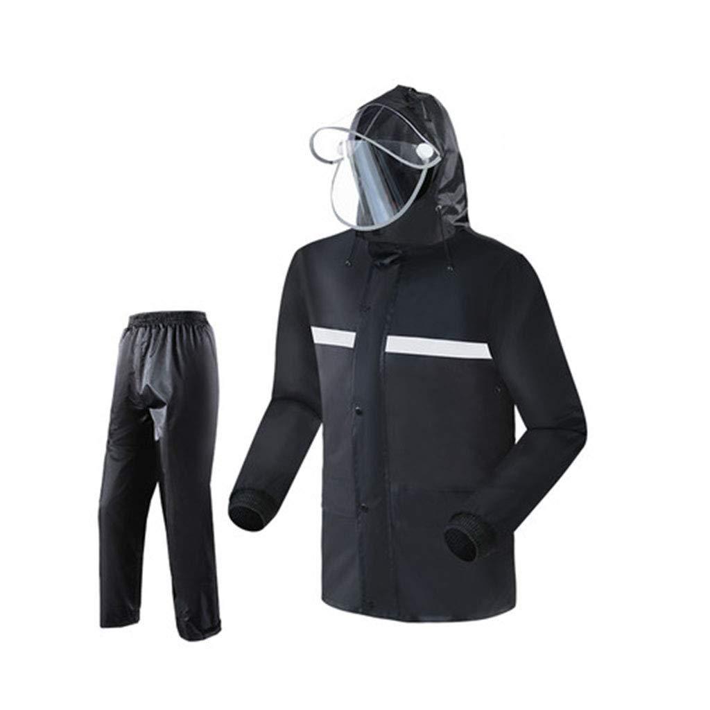 noir suit XXXL WSWJJXB Imperméable imperméable Fendu Costume imperméable Pantalon de Pluie imperméable Unisexe