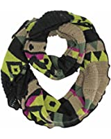 Luxury Divas Colorful Knit Infinity Circle Scarf With Ruffled Edge