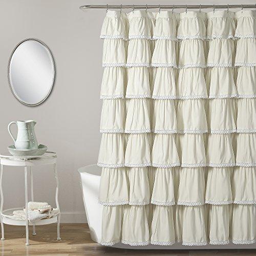 - Lush Decor Lace Ruffle Shower Curtain, 72