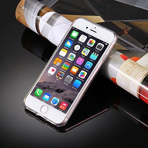 YAN Für iPhone 6 Plus / 6s Plus, Transparente Sterne Glitzer Powder Soft TPU Schutzhülle