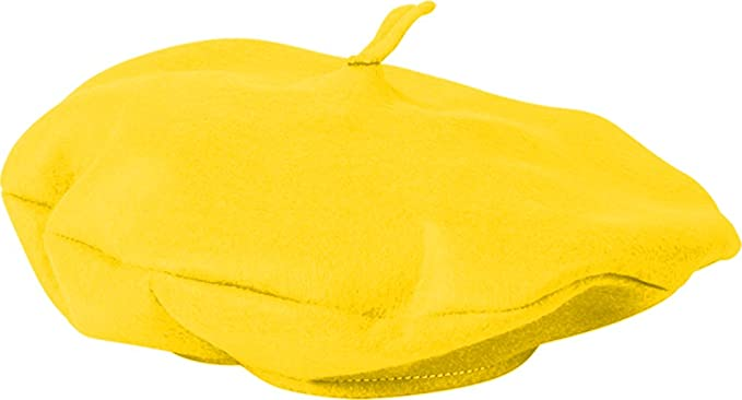 Amazon.com  Adults Suave Yellow French Mime Artist Beret Hat Costume ... 8184a040731