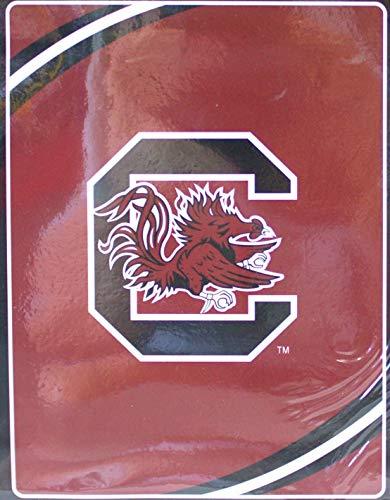 (The Northwest Company NCAA Licensed Royal Plush Raschel Fleece Throw Blanket (South Carolina Gamecocks))