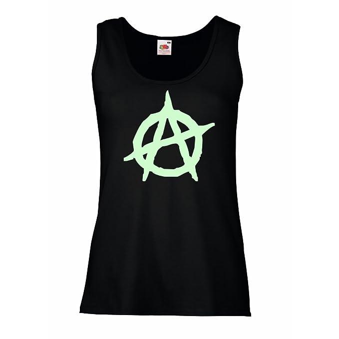 Amazon Lepni Womens Tank Tops Anarchist Symbol Anarchism