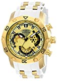Invicta Men's 'Pro Diver' Quartz Stainless Steel and Silicone Casual Watch, Color:White (Model: 23424)