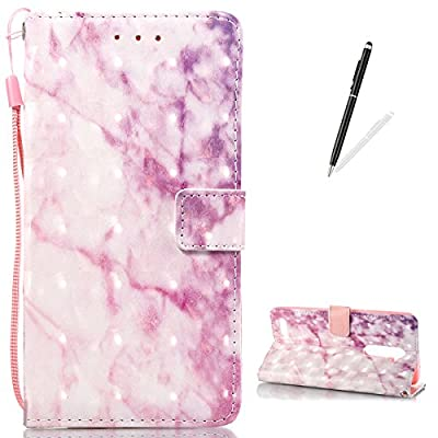 ZTE Z MAX PRO Z981 Leather Case [Free Stylus Pen], KaseHom [Wallet] Personalised Marble Stone Texture Pattern Flip Magnetic Holster with [Card Holder] Shock Proof Cover for ZTE Z MAX PRO Z981 from CaseHome