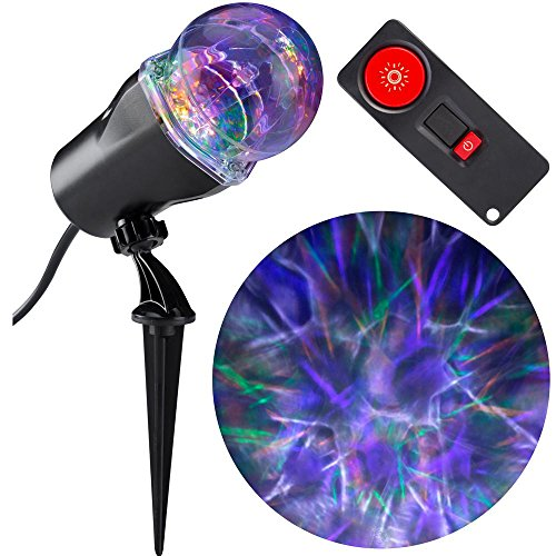 Gemmy LED Lightshow Projection SpiderWeb 15 Color Combos with Wireless Remote Control -
