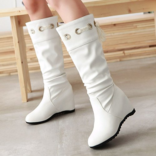 AIYOUMEI Women's Classic Boot White uthEEstV0