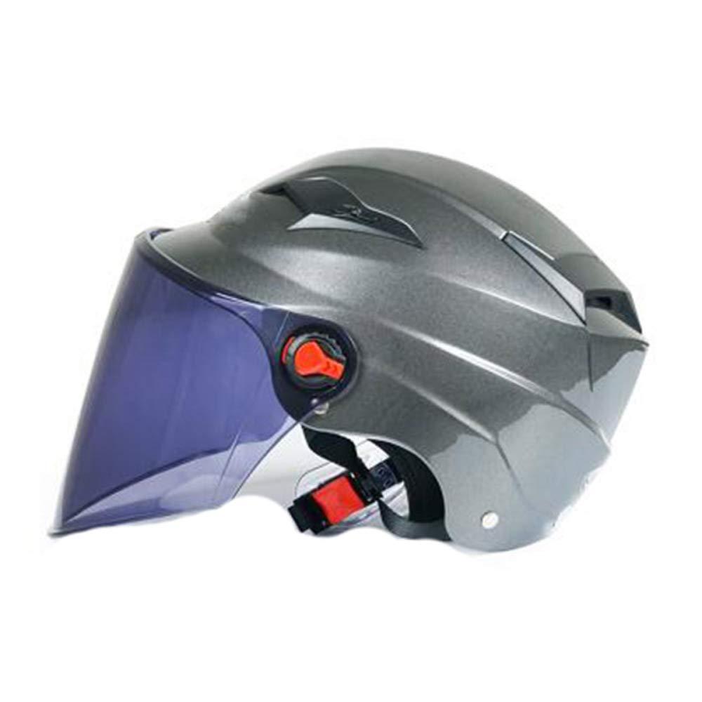 TZQ Männer Motorrad Helm Unisex Universal Hälfte Sommer Sonnenblende Leichte Hälfte Universal CoveROT Helm Schutzhelm (5459) 2fdb88