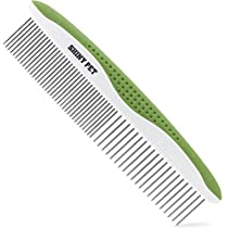 Dog Brush for Removes Loose Hair and Knots - Cat Brush for Removing Matted Fur - Grooming Tool with Bent Wire Bristles and No-Slip Grip Handle - Best Pet Slicker Brush for Home Grooming Kit - EbookGuide