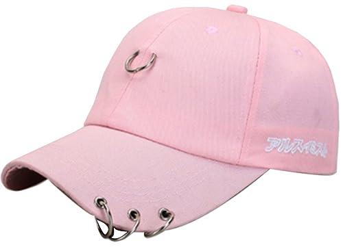 Belsen–Gorra de béisbol con anillas en la visera, para mujer.