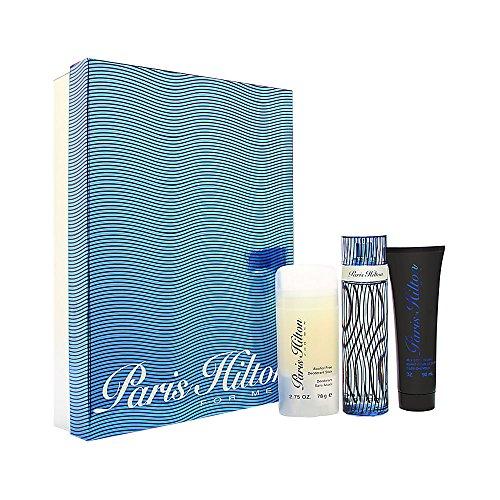 Paris Hilton 3pc Set by Paris Hilton for Men – 3 Pc Gift Set 3.4oz cologne spray, 3oz hair body wash, 2.75oz deodarant stick