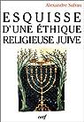 Esquisse d'une éthique religieuse juive par Safran