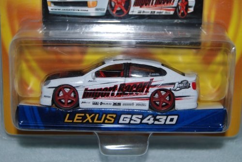 Jada Toys 2003 Dub City Import Racers! - White Lexus GS430 with Collector Card #037 by Import Racers [並行輸入品] B015YNXIII