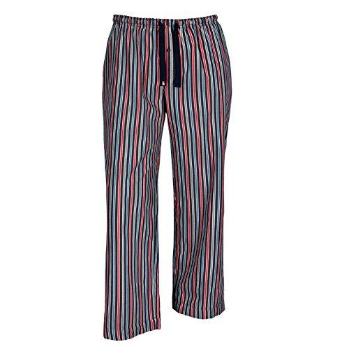 Jockey XXL Pantalones de pijama a rayas azules-rojas, 2xl-8xl:4xl