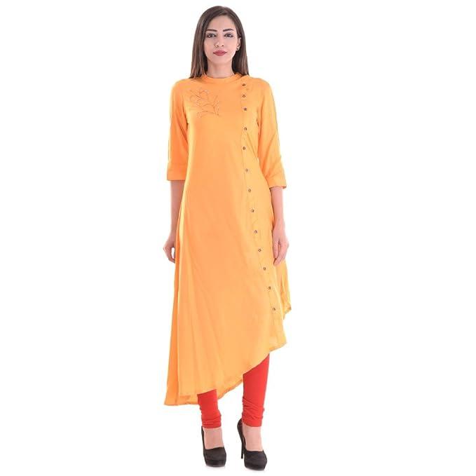 Amazon.com: Vihaan Impex nuevo Bollywood Kurti para mujer ...