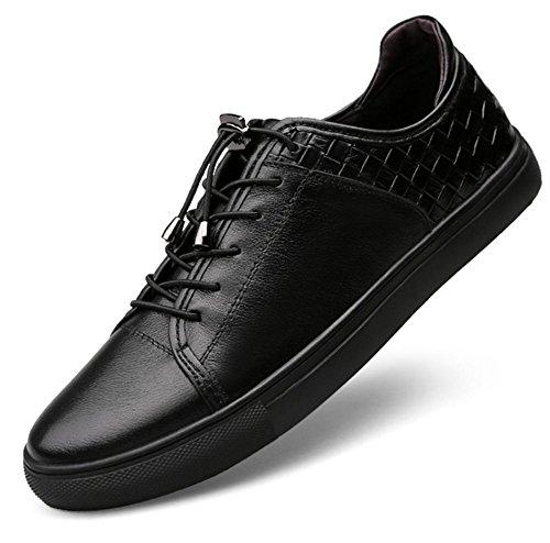 A Tallas Cordones 39 Negro Swnx 43 Goma Genuino Hombre 46 Deportivas Zapatos Zapatillas Casuales Blanco Black Black Con Invierno De Cuero Fitness ZZPTAw
