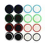 XFUNY 8 Pairs/16 PCS Replacement Silicone Analog Controller Joystick Luminous Thumb Stick Grips Caps Cover for PS4 PS3 PS2 Xbox One/360 Game Controller (16PCS)