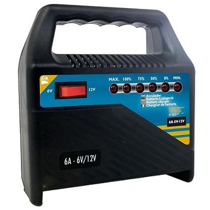 Batería Cargador 6 V/12 V 6 Amp.: Amazon.es: Coche y moto