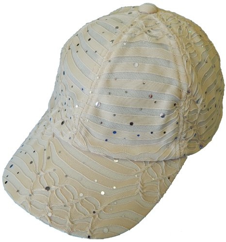 cb596760eff91a Sparkle Baseball Caps (Aqua) at Amazon Women's Clothing store: