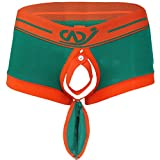 "Freebily Men Boxer Brief Trunks Buckled Shorts Bulge Pouch Jockstrap Underwear Green Medium(Waist:27.0-38.0""/68-96cm)"