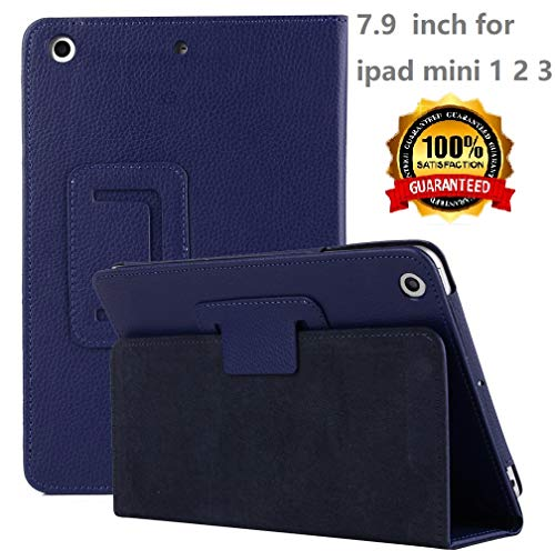 iPad Mini 1/2/3 Case - Corner Protection Stand Smart Cover Case with Auto Sleep/Wake Feature for Apple iPad Mini 1 / iPad Mini 2 / iPad Mini 3 (Navy 03) ...