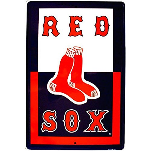 (Signs 4 Fun Spbfpp Boston Red Sox Poster, Large Parking Sign )