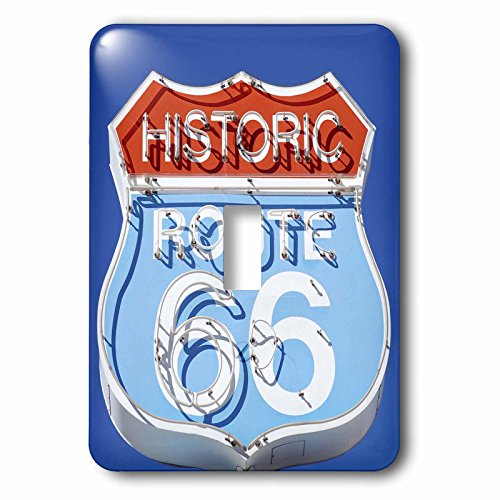 3dRose lsp_88027_1 Arizona, Seligman, Neon Signage on Historic Route 66 Us03 Lse0015 Lynn Seldon Light Switch Cover - Cover Lynn