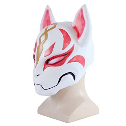 Lzx Fortnite Fox Mask Cospaly Halloween Scary Mask Dress Up Prom