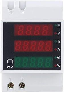TOOGOO Guida DIN digitale AC 200-450V Voltmetro Wattmetro Amperometro