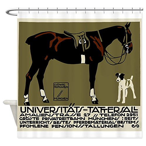CafePress - 1912 Ludwig Hohlwein Horse Riding Poster Art Showe - Decorative Fabric Shower Curtain (Ludwig Hohlwein Color)
